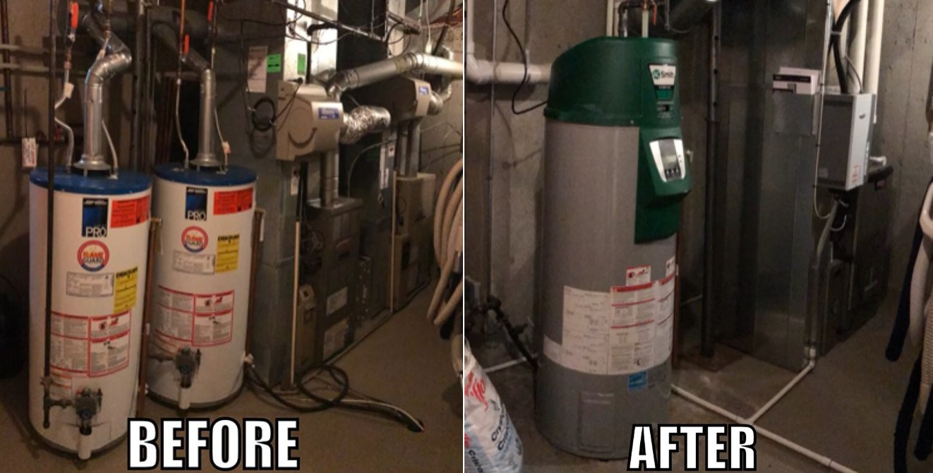 Before and After Otto Heating & Cooling - A furnace replacement in Edmonton, Alberta